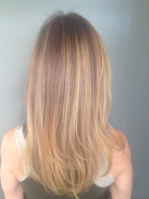 summer brunette highlights