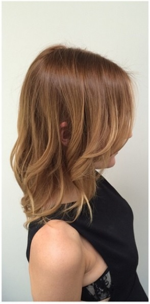 warm brunette hair color and highlights
