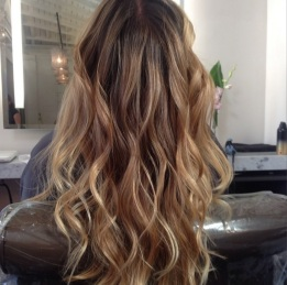 dark golden blonde highlights