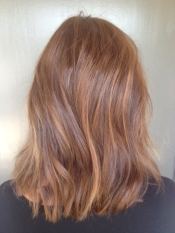 warm auburn brunette hair color