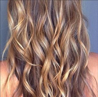 dark blonde or light brunette hair color
