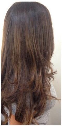 natural looking brunette highlights