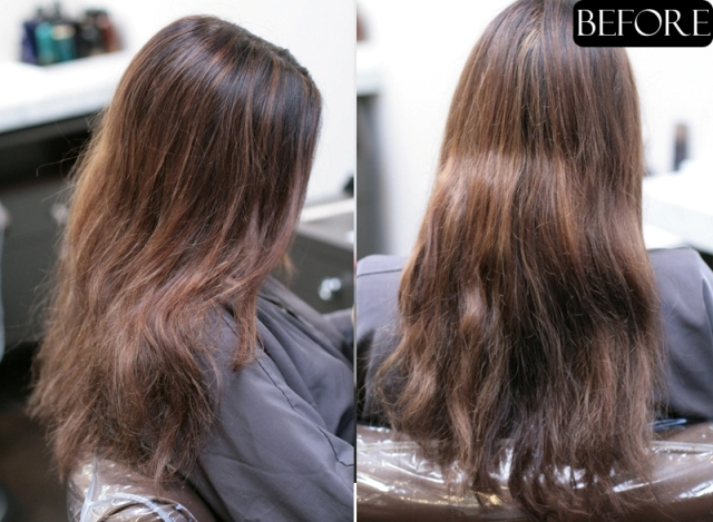 brown hair makeover before and after