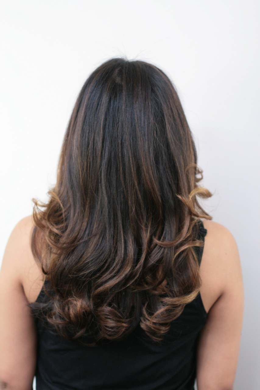 hair color ideas brunette with highlights