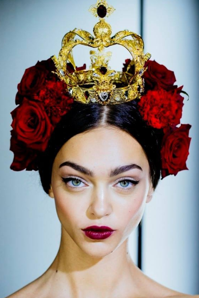 dolce and gabbana hair spring 2015