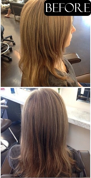 hair color makeover before and after photos
