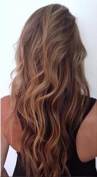 sunkissed brunette highlights