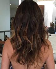 balayage brunette highlights
