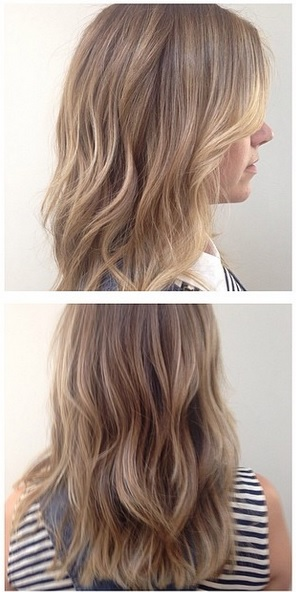 mid to dark blonde hair color idea