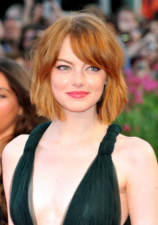 emma stone bob haircut