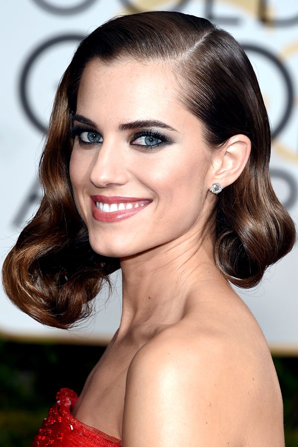 Allison Williams hair 2015 golden globes