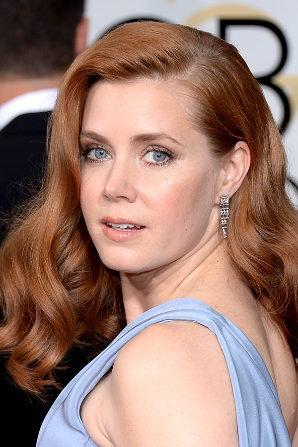 Amy Adams hair 2015 golden globes