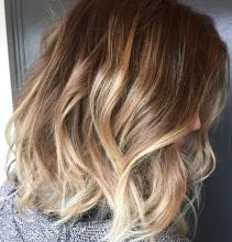 beachy blonde highlights on short hair