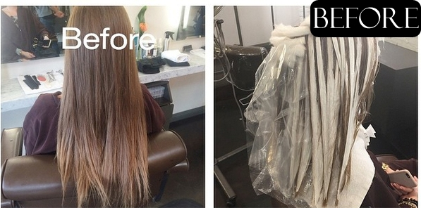 before and after hair photos