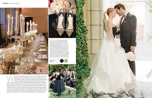 black and white wedding idea