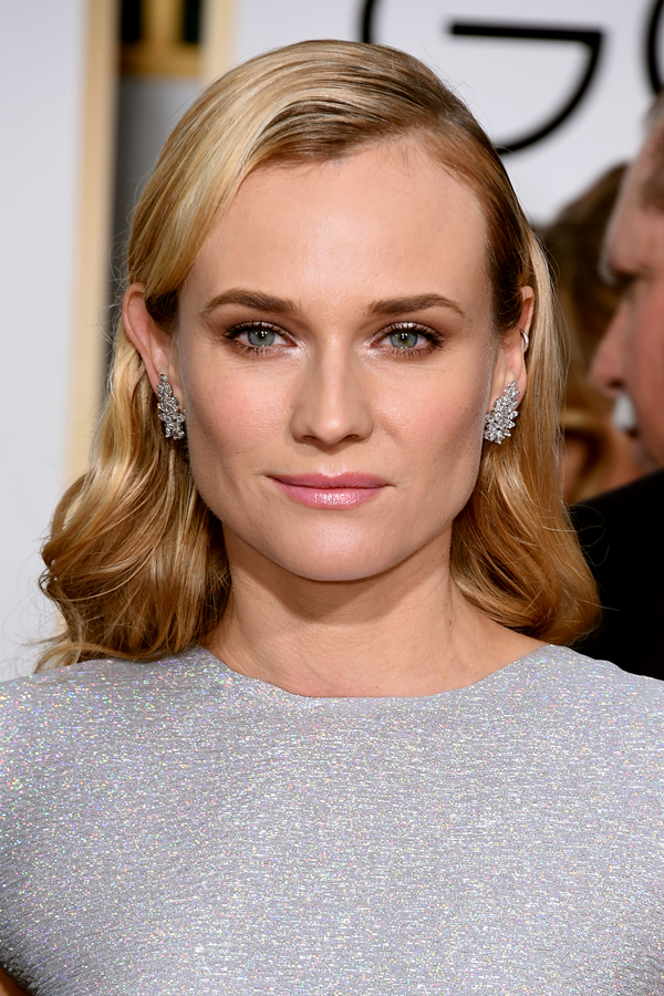 diane kruger hair 2015 golden globes