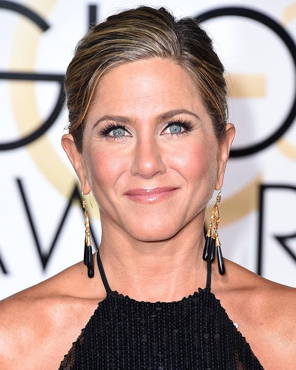 jennifer aniston hair 2015 golden globes