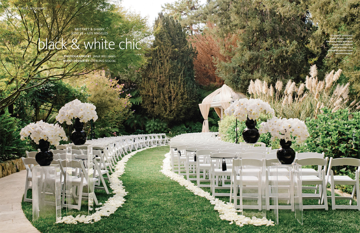Outdoor Wedding Ideas: Black And White Wedding