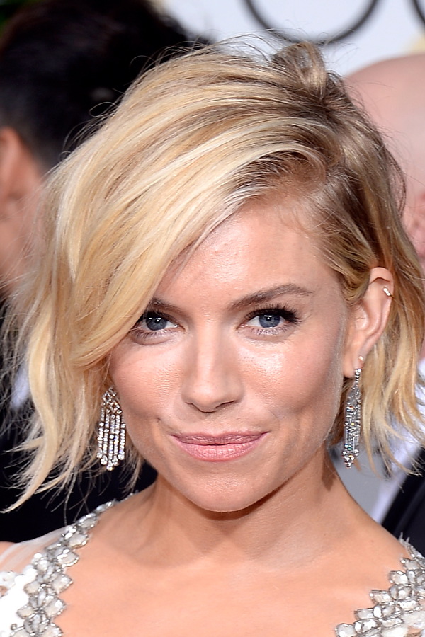 Sienna Miller hair 2015 golden globes