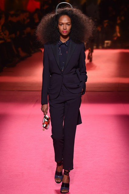 big hair - schiaparelli spring 2015 couture