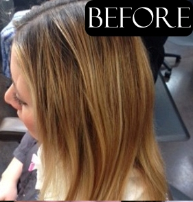 hair color makeovers before and after