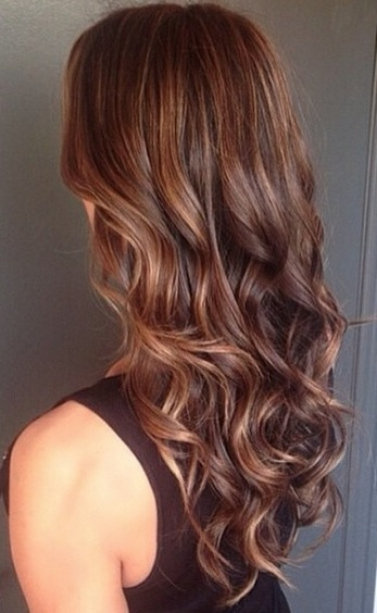 healthy brunette hair color with subtle highlights
