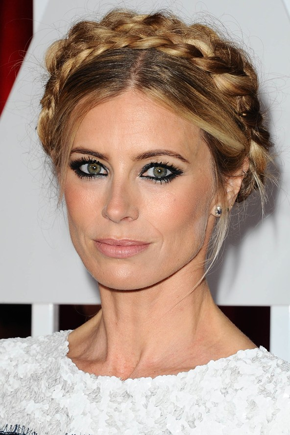 Laura bailey hair 2015 oscars - crown braid