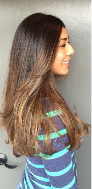 low maintenance brunette highlights