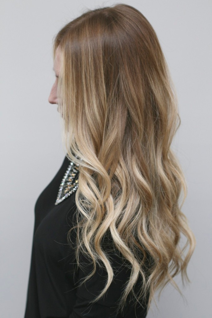 Seamless Blonde Ombre Highlights