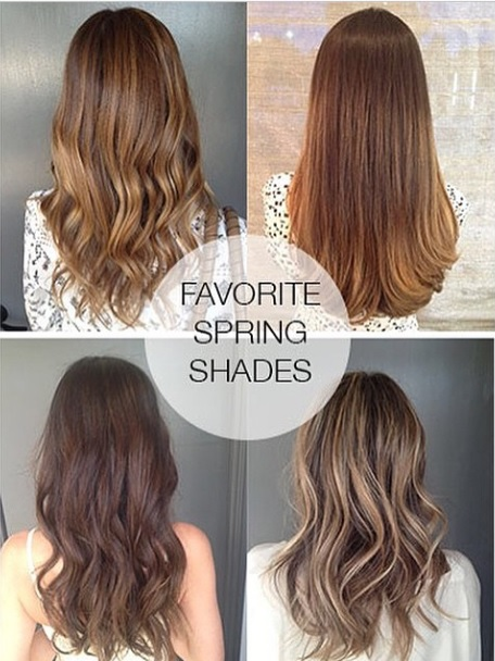 spring hair color ideas for brunettes