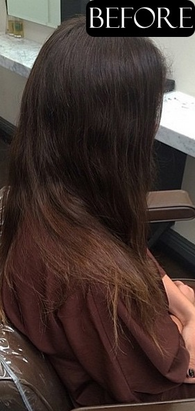 brunette hair color before and after blog