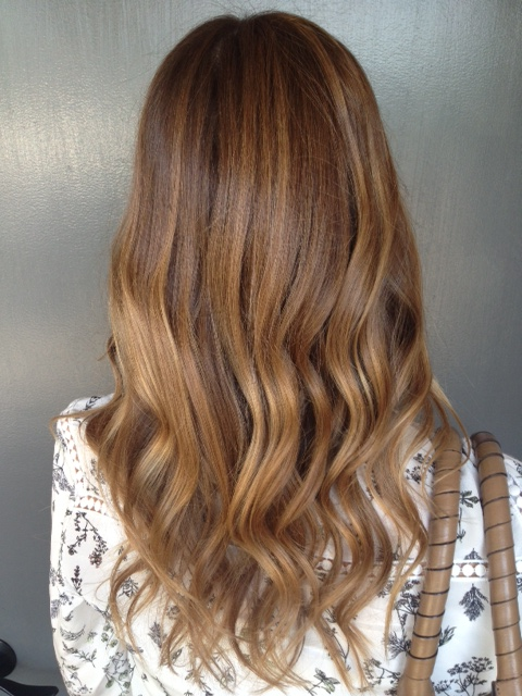 brunette with warm highlights