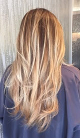 honey blonde highlights