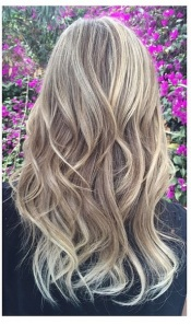 beige blonde highlights