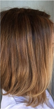 brunette hair with very fine highlights