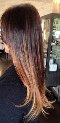 dark brunette with chestnut highlights