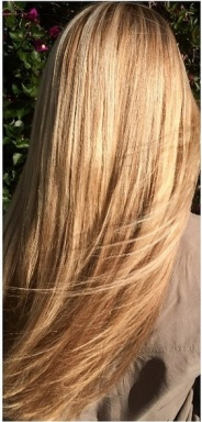 golden blonde tone highlights
