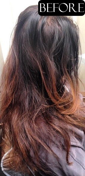 hair color trends before and after