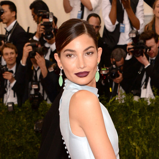 lily aldridge hair 2015 met gala