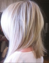 white blonde highlights