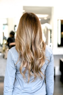 bronde and blonde highlights