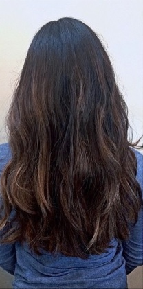 cool toned brunette highlights