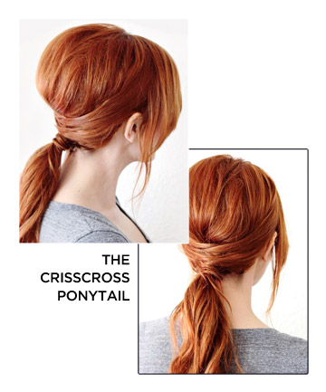crisscross ponytail how to