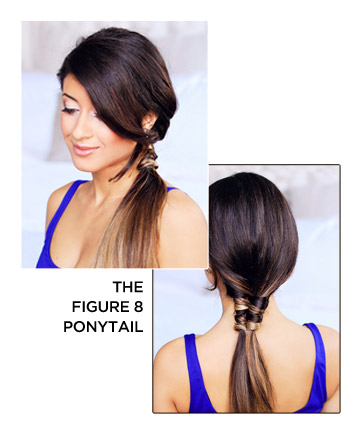 figure 8 ponytail how to