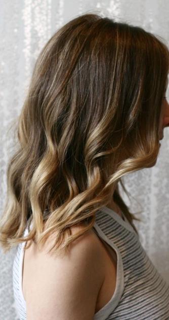 ... Dark Lowlight Against Blonde And Caramel Streaks | Dark Brown Hairs