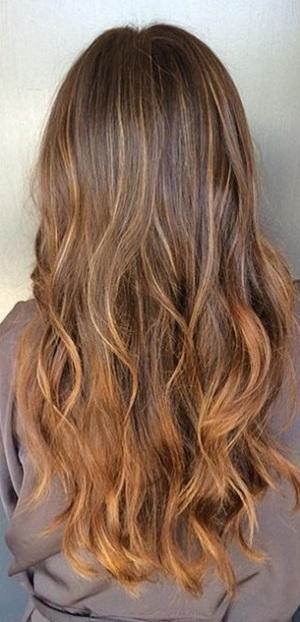 melted caramel brunette highlights