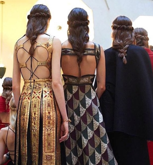 valentino hair fall 2015 couture show