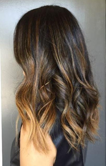 partial highlights brown hair