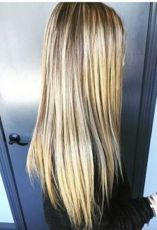 hair color - blonde higlights and beige tones