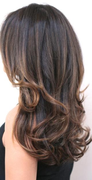 superfine brunette highlights